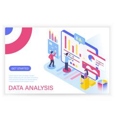 data analysis process big concept isometric vector image