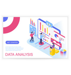 data analysis process big data concept isometric vector image