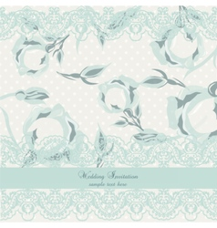 Delicate Lace and Roses Vintage card vector image