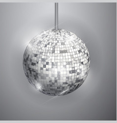 disco ball isolated on grayscale background night vector image