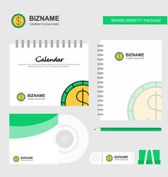 dollar logo calendar template cd cover diary and vector image