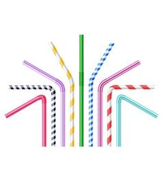 Drinking Straws Realistic vector