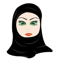 East woman in hijab vector image