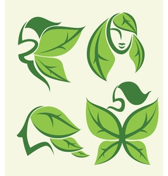 eco beauty vector image