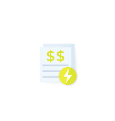 Electricity utility bills vector