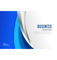 Elegant blue business style flyer template vector