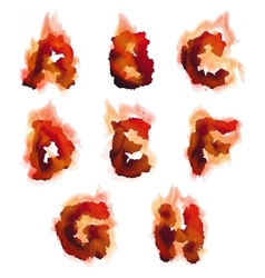 English burning alphabet vector