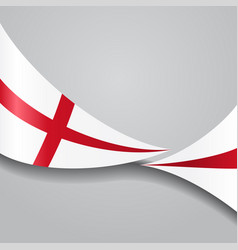English wavy flag vector