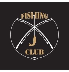 Fishing club labels vector