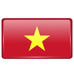 Flags Vietnam in the form of a magnet on vector image