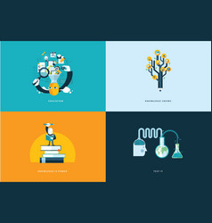 Flat design concept icons for education vector