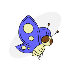Funny butterfly vector