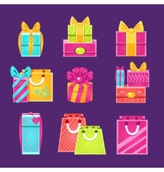 Gift Packages Set vector