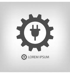 Grey energy industry logo vector