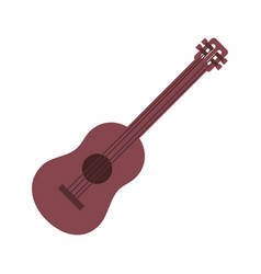 guitar instrument music on white background vector image