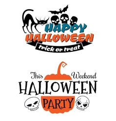 Halloween party banner and poster vector image