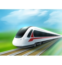 High-speed day train realistic image vector