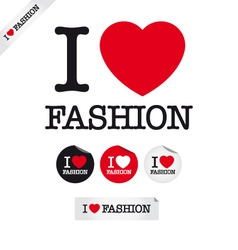 i love fashion vector image