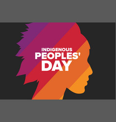 Indigenous peoples day holiday concept template vector