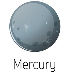 Isolated mercury on white background vector