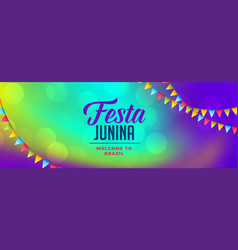 Latin american festa junina celebration banner vector
