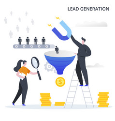 Lead generation business process process of vector