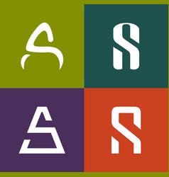 Letter s a logo icon design vector