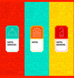 line hotel package labels vector image