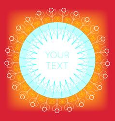 mandala art vector image
