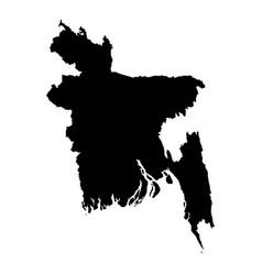 Map bangladesh isolated vector