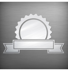 Metallic award sign on grey vector image