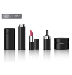 mock up realistic black packaging product vector image