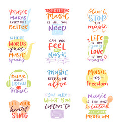 music lettering musical calligraphy text or vector image