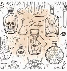 Mystic magic background religion vector