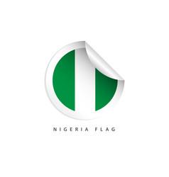Nigeria label flags template design vector