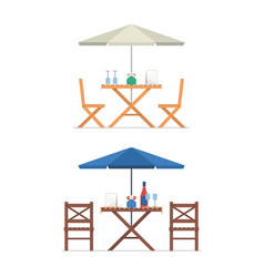 Outdoor table and chairs vector