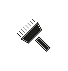 paint roll icon paint brush wall painter paint vector image