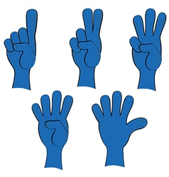 People hand collection vector