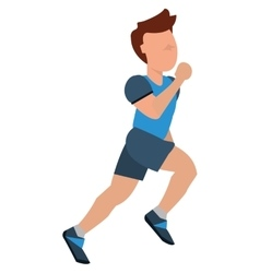 person jogging icon design vector image