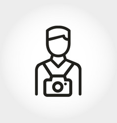 photographer icon line flat style tourist with vector image