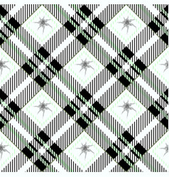 plaid checkered tartan seamless pattern in green vector image