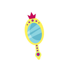 princess magic mirror accessory for a little vector image