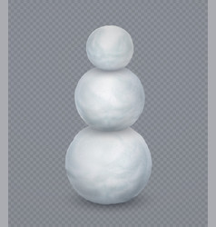 Realistic white snowball with three balls on vector