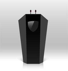 Rostrum with microphones vector