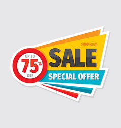 sale special offer - concept badge vector image