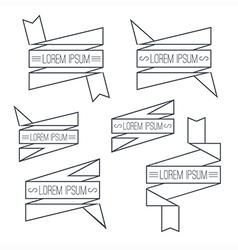 Set of ribbons thin line vector image