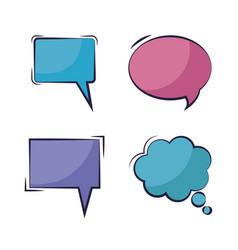 set of speech bubbles pop art style vector image