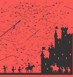 siege castle vector image