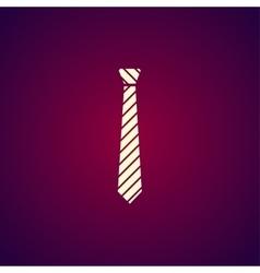 Simple icon tie vector image