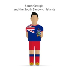 South Georgia and Sandwich Islands football player vector